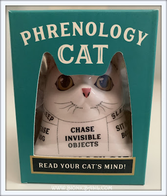 Phrenology Cat Read Your Cat's Mind Feline Fiction on Fridays #133 ©BionicBasil®