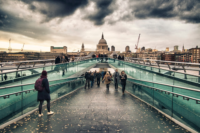 Millennium bridge e St Paul's Cathedral-Londra