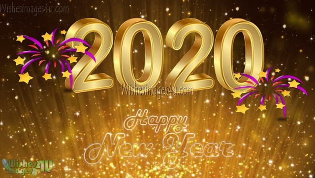 New Year 2020 4K ultra HD Golden Background Images Download For desktop