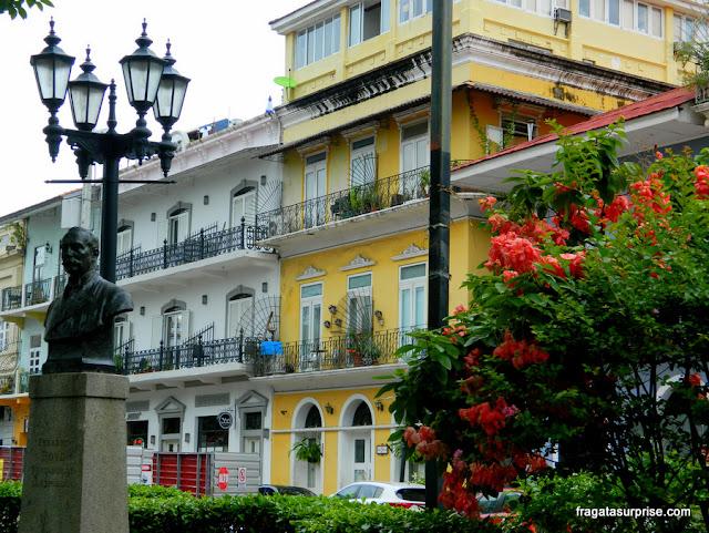 Praça Bolívar, no Casco Viejo da Cidade do Panamá