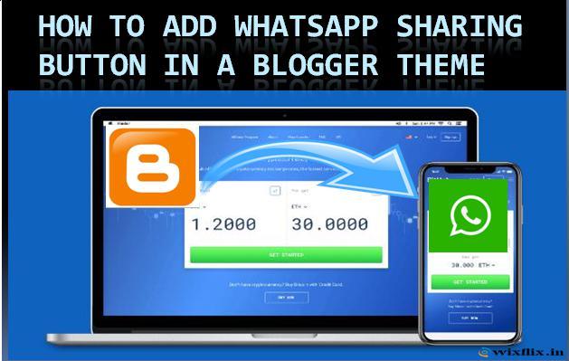 Whatsapp share button HTML code for Blogger/How to add share button in Whatsapp Blogger.