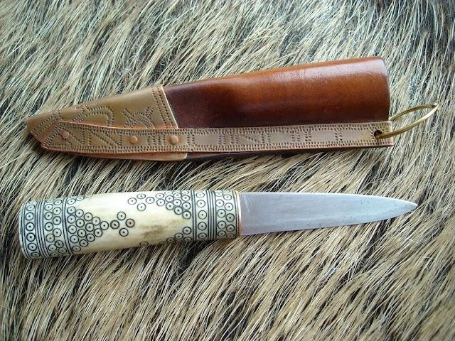 Rekonstrukcja historyczna noża z wczesnego średniowiecza