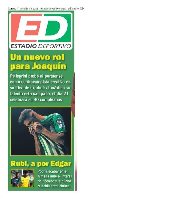 """Betis, Estadio Deportivo: """"Un nuevo rol para Joaquín"""""""