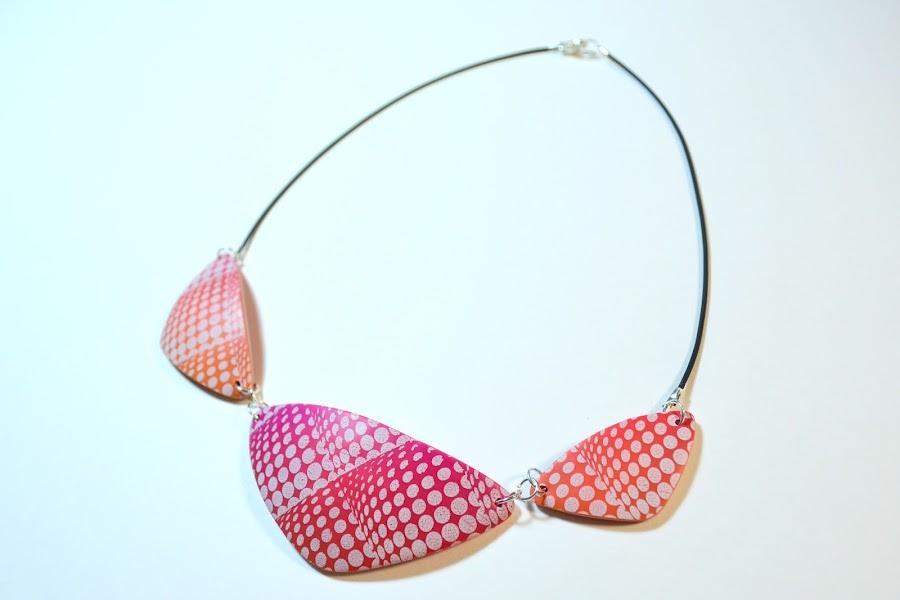 collar silkscreen arcilla polimérica