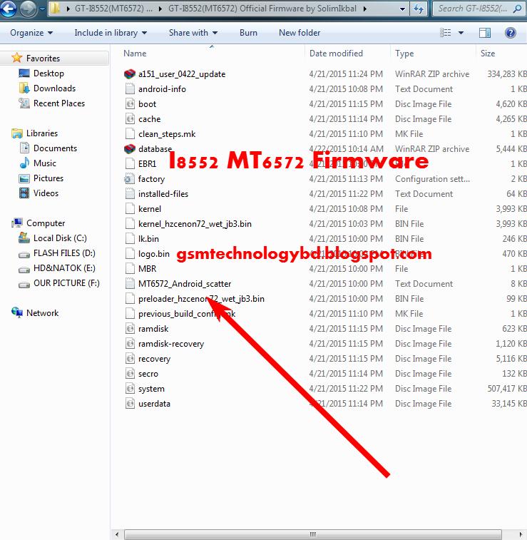Samsung Galaxy Win GT-I8552 MT6572 StockRom Firmware Download Here ...