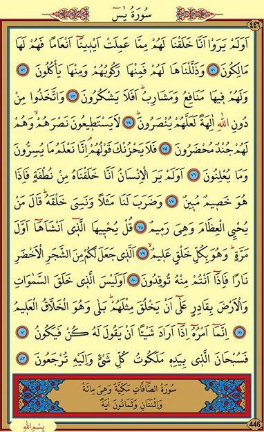 Yasin Suresi Arapça 6. Sayfa