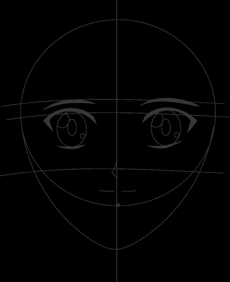 Teknik menggambar manga mudah dan sederhana (Tampak Depan ...