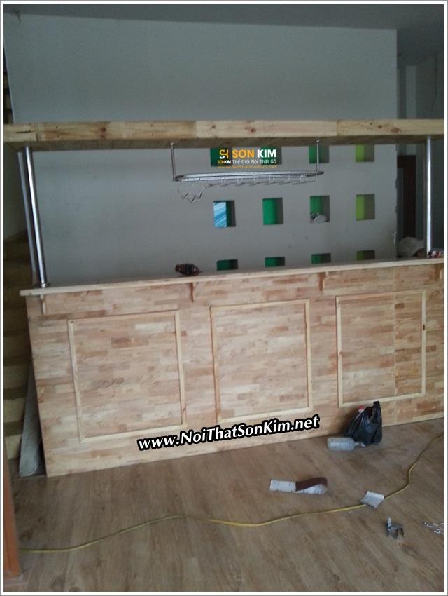 Quầy cafe gỗ cố định QSK8063 giá rẻ / đẹp / chất lượng cao