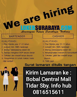 We Are Hiring at Bobal Central Mall Surabaya Januari 2020