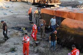 At least 20 killed when fuel tanker explodes in Lebanon