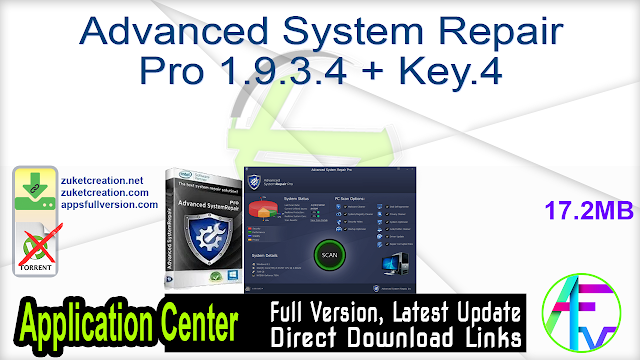Advanced System Repair Pro 1.9.3.5 + Key