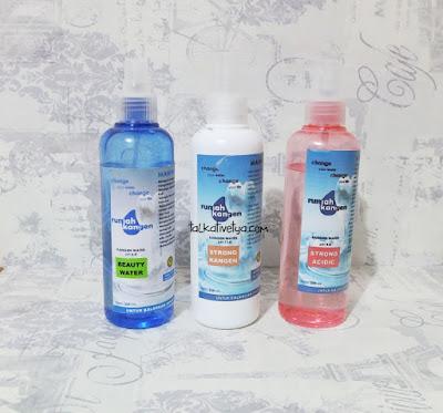 Varian Kangen Water yaitu Strong Kangen, Strong Acid, dan Beauty Water