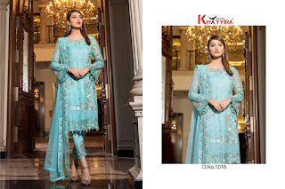 Khayyira Fuchsia Georgette pakistani Suits wholesale