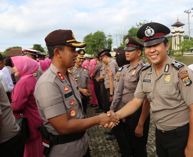Sebanyak 78 Personel Polres Lampung Utara Mendapatkan Kenaikan Pangkat