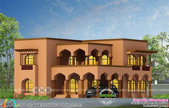 Arabian style 4 bedroom house rendering