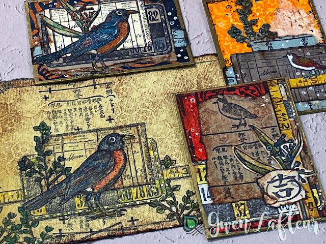 ATCs and Mixed Media Art with EGL19 Stamp Set by Gwen Lafleur