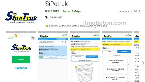 aplikasi SiPetruk dari menu Play Store