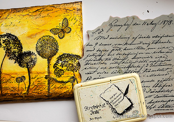 Layers of ink - Silhouette Mixed Media Canvas Tutorial by Anna-Karin Evaldsson.