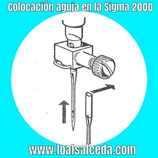 Colocacion aguja en maquina de coser sigma 2000