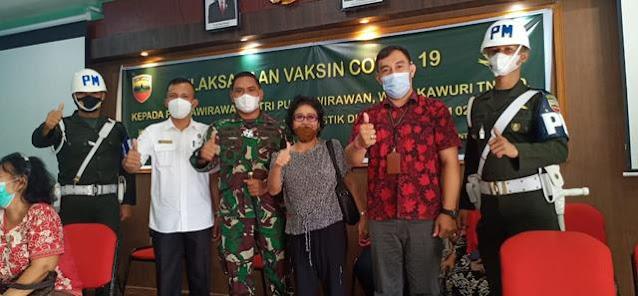 Pelaksanaan Vaksin Kepada Purnawirawan Dan Wakawuri Ditinjau Langsung Oleh Dandim 0207/Simalungun