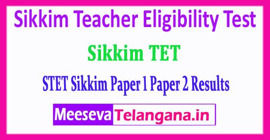 Sikkim TET Result Sikkim Teacher Eligibility Test Paper 1 Paper 2 Results