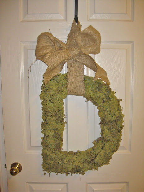 Crafty Couture Moss Covered Initial Wreath