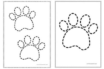 rysunek psiej łapki