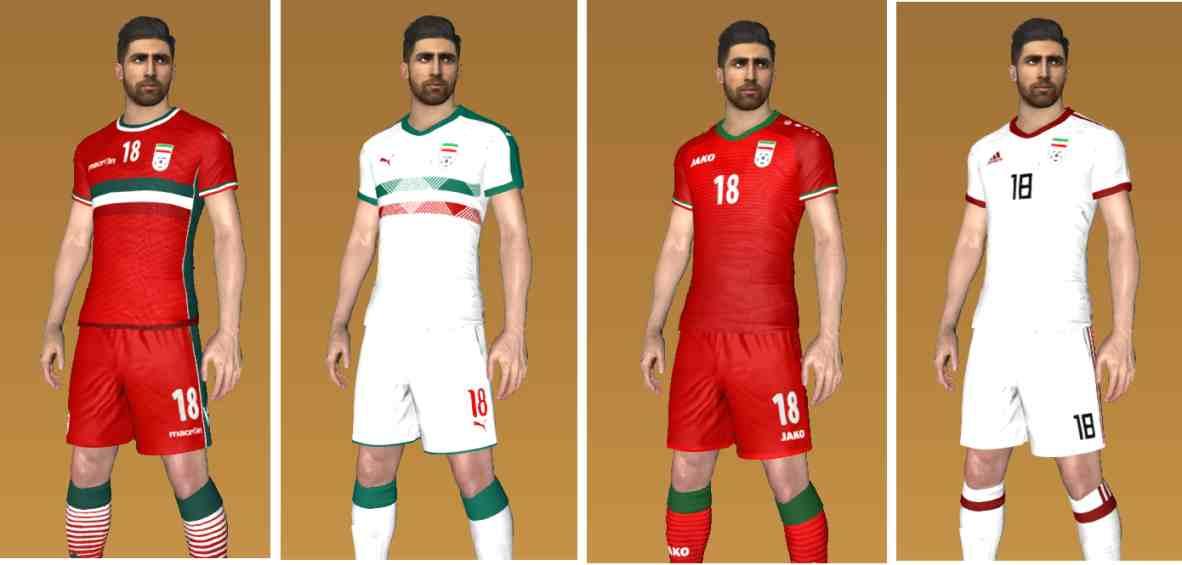 Ultigamerz: PES 2017 Iran Custom Kits + Adidas World Cup
