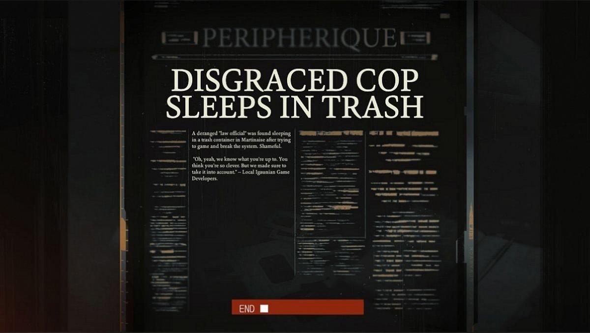 Disgraced Cop Sleeps In Trash