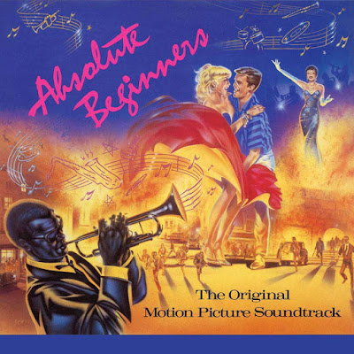 The cover illustration features a trumpet player; a 1950s teenage couple dancing; and a club singer (Sade) performing--while the background portrays a street riot..