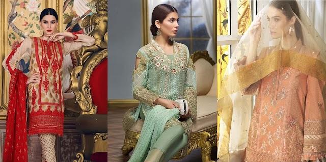 Gul Ahmad Lawn Silk And Chiffon Dresses for Winter