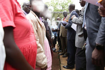 Pregnant girls in Siaya county who were barred from joining form One by Principles. PHOTO | NMG