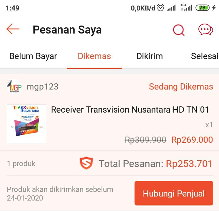 Harga Tranvision Nusantara HD Rp.269.000