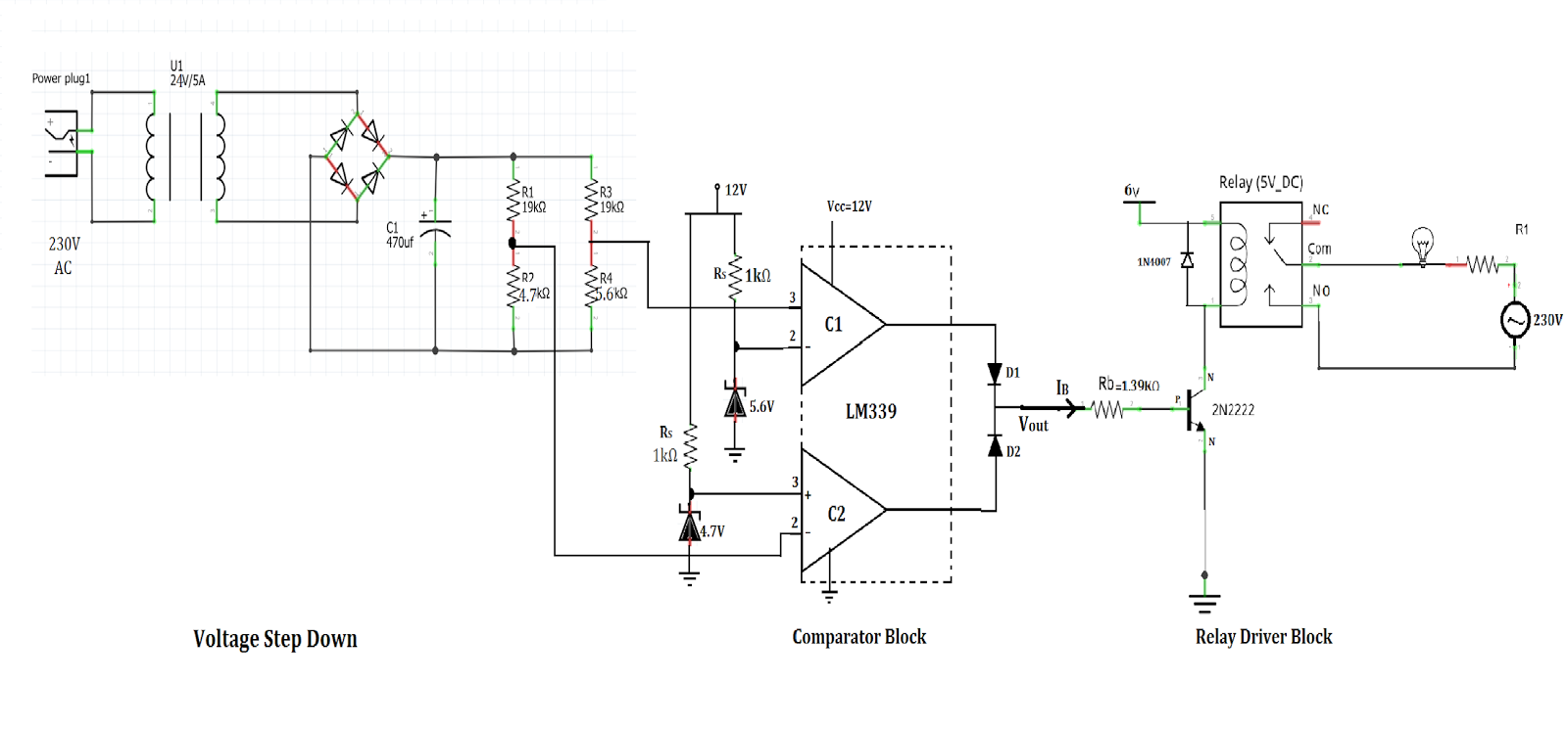 Ritvik Dave Design Over Under Voltage Protection Circuit Stabilizer Ac Short Breaker Protector Homemade Projects Still There Are Two Additional Dc Power Supplies Of 6v For Relay And 12v Comparator Ic Needed To Operate This But The Final Product
