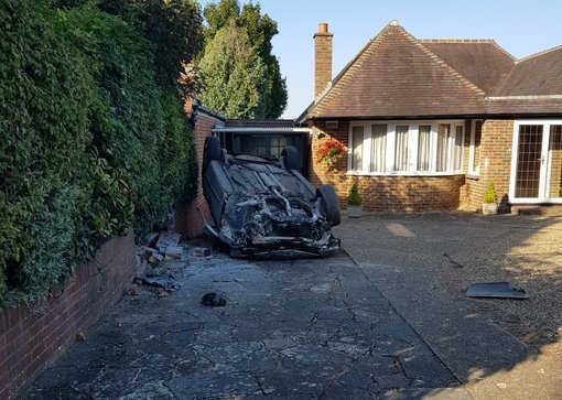 Two men arrested after dramatic Sutton chase ends in car flipping over
