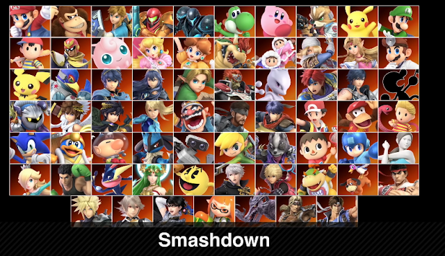 Super Smash Bros. Ultimate all characters roster Smashdown mode mugshot character faces