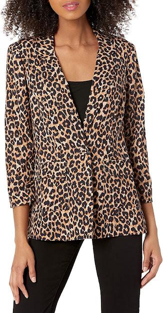 Women's Blazers With Leopard Pattern