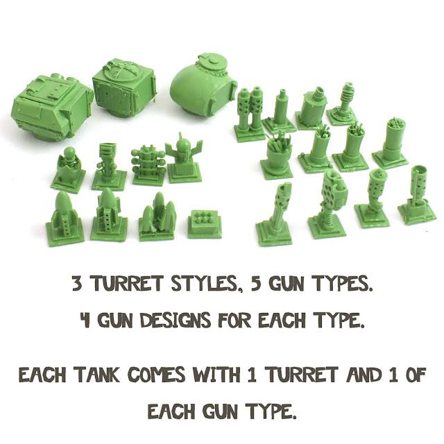Wargame News and Terrain: Fox Box: New SciFi Tiny Ork Tank