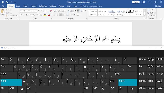 menulis tulisan arab di word