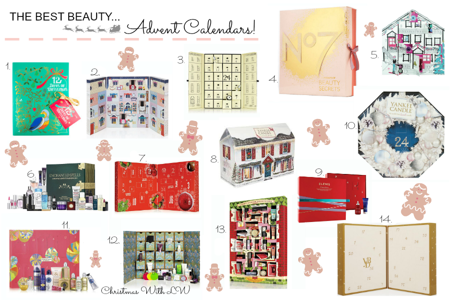 an image of the best beauty advent calendars for 2014