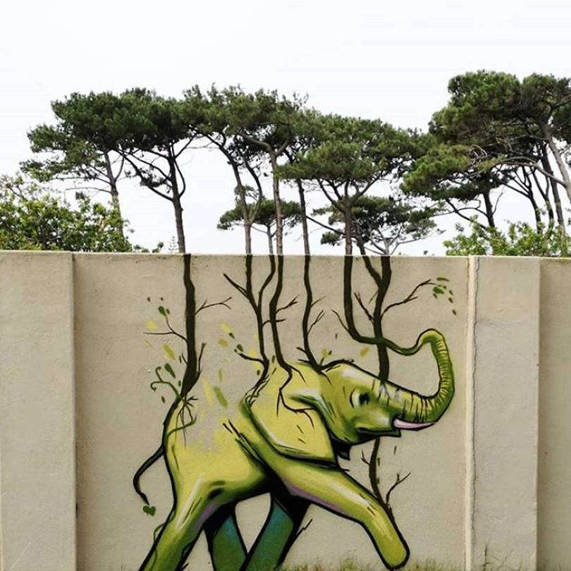 Gorgeous graffiti that blends perfectly with the surroundings 01