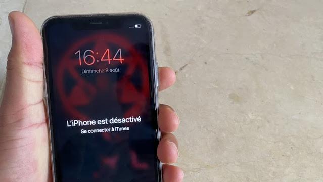 تم تعطيل جهاز iPhone حل مشكلة تم ايقاف الايفون iPhone Disabled اليكم الحل