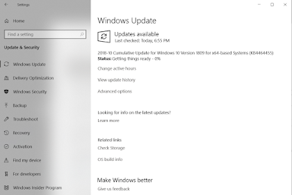 Perbaikan Bug Windows 10 October Update - Build 17763.107