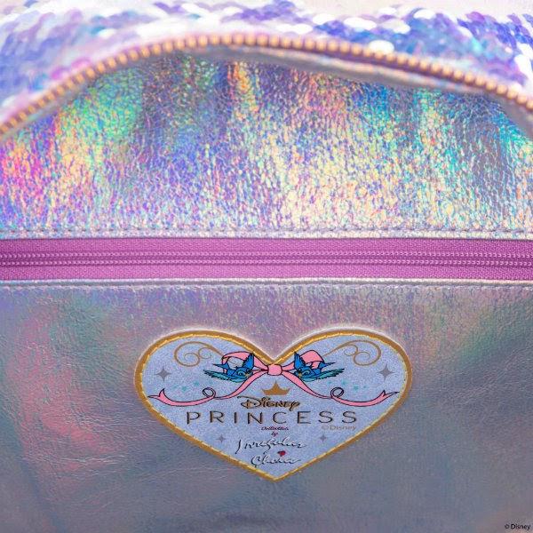 iridescent shimmer lining inside bag with disney irregular choice branding