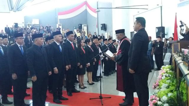 30 Anggota DPRD kota Bitung Periode 2019 - 2024 di Lantik hari ini