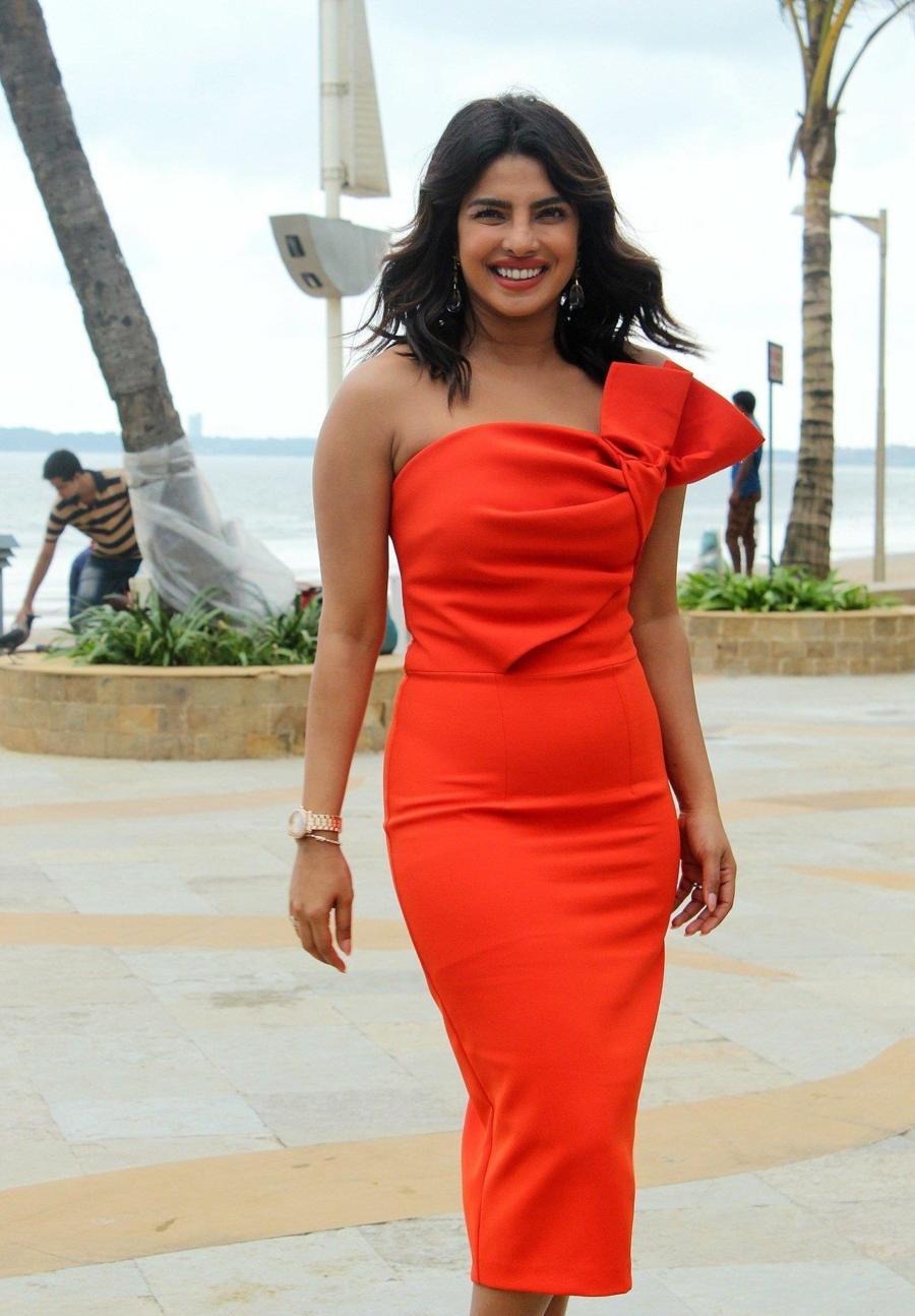 Indian Actress Priyanka Chopra At Promotion Of Film The Sky Is Pink