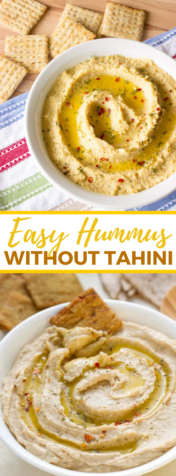 SIMPLE & EASY HUMMUS WITHOUT TAHINI #appetizers #dips
