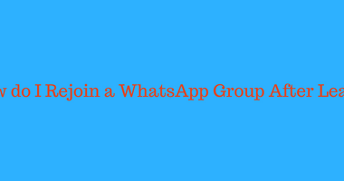 How do I Rejoin a WhatsApp Group After Leaving? [3 Easy