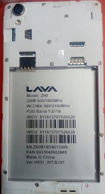 LAVA Z60 FLASH FILE