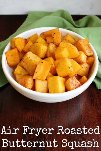 Make delicious roasted butternut squash quickly and easily in your air fryer. It is a great way to get a flavorful veggie side on your dinner plate!